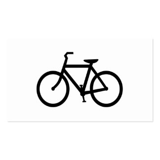 Black Bike Route Pack Of Standard Business Cards
