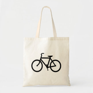 Black Bike Route Tote Bag