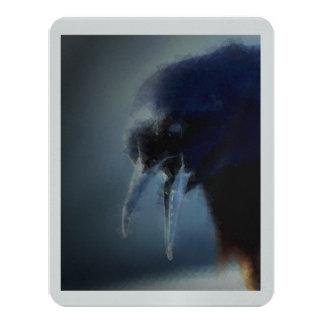 Black Bird 11 Cm X 14 Cm Invitation Card