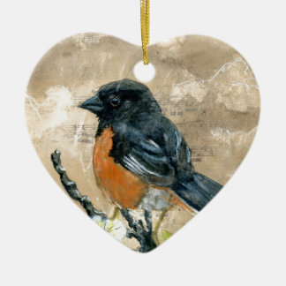 Black Bird Christmas Ornament