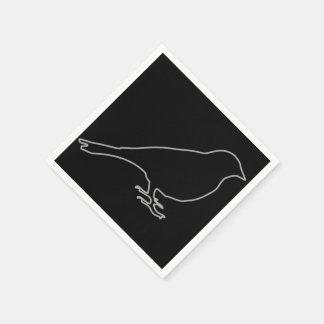 Black Bird Napkins Disposable Napkins