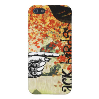 Black Birds Baked Leaf Collage iPhone iPhone 5/5S Case