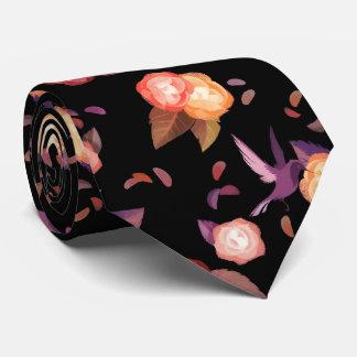 Black Birds n' Roses tie