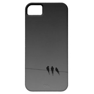 Black Birds on a Wire Night iPhone 5 Cover