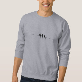 Black Birds Silhouette on Wire Sweatshirt