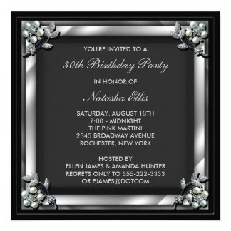 Black Birthday Event Party Invitation Template