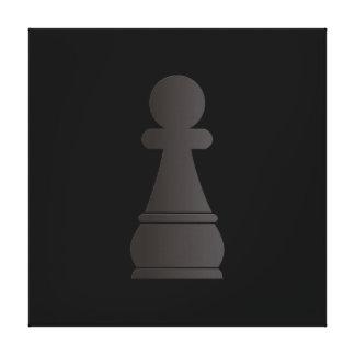 Black bishop chess piece canvas prints