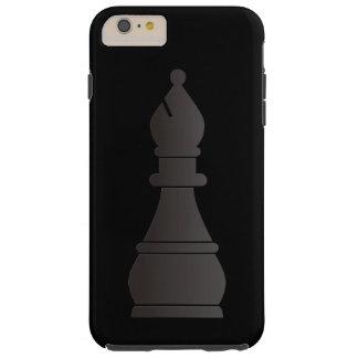 Black bishop chess piece tough iPhone 6 plus case