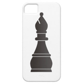 Black bishop chess piece iPhone 5 cases