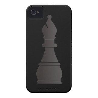 Black bishop chess piece iPhone 4 Case-Mate case