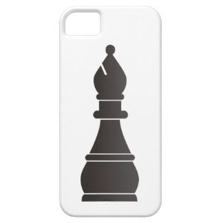Black bishop chess piece iPhone 5/5S cases
