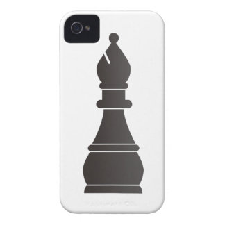 Black bishop chess piece iPhone 4 cases