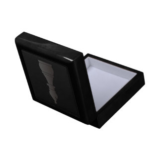 Black bishop chess piece small square gift box