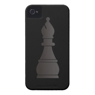 Black bishop chess piece iPhone 4 covers