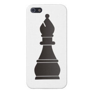 Black bishop chess piece case for the iPhone 5