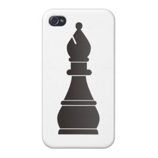 Black bishop chess piece cover for iPhone 4