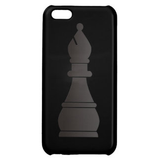 Black bishop chess piece case for iPhone 5C