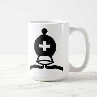 Black Bishop Basic White Mug
