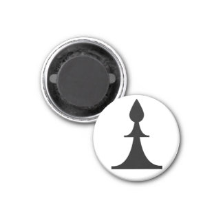 black bishop (you need 2) 3 cm round magnet