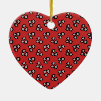 Black blossom ceramic heart decoration