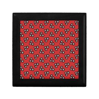 Black blossom small square gift box