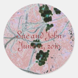 Black Blossoms Round Sticker