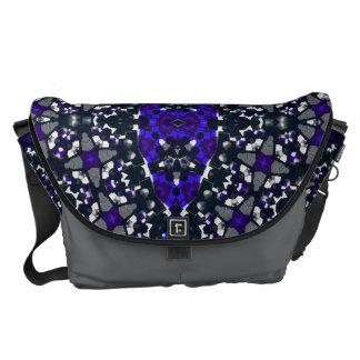 Black Blue Abstract Messenger Bag