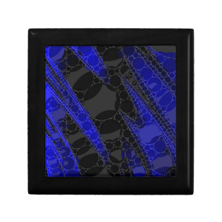Black Blue Abstract Small Square Gift Box