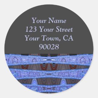 black blue address labels sticker