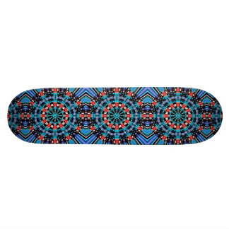 Black Blue And Red Mandala Custom Skate Board