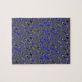 Black Blue And Yellow Swirly Difficult Puzzle