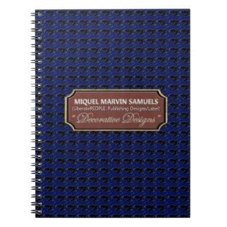 Black Blue Bald Eagle Decorated Modern Notebook