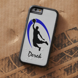 Black Blue Basketball Personalized Tough Xtreme iPhone 6 Case