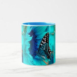 Black & Blue Butterfly Coffee Mug