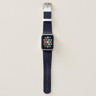 Black & Blue Checker Apple Watch Band