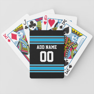 Black Blue Football Jersey Custom Name Number Bicycle Playing Cards