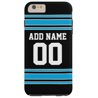 Black Blue Football Jersey Custom Name Number Tough iPhone 6 Plus Case