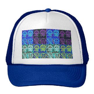 Black Blue Hamsa Mesh Hat