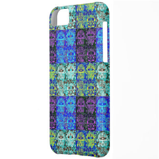 Black & Blue Hamsa Tapastry Cover For iPhone 5C