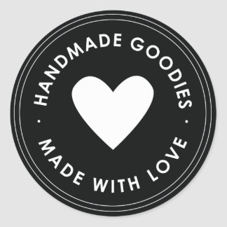 Black Blue Handmade Goodies Sticker