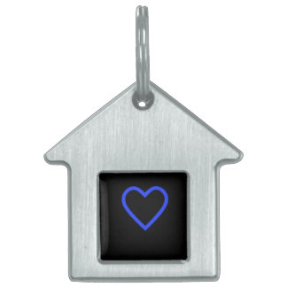 Black & Blue Heart Dog House Tag