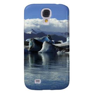 Black & Blue Icebergs, Iceland Galaxy S4 Case