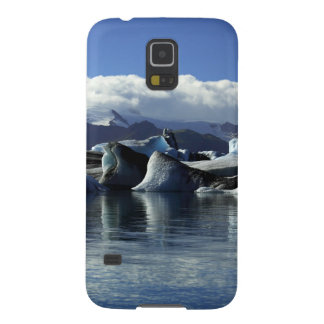Black & Blue Icebergs, Iceland Galaxy S5 Cases