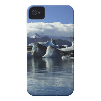 Black & Blue Icebergs, Iceland iPhone 4 Case-Mate Case