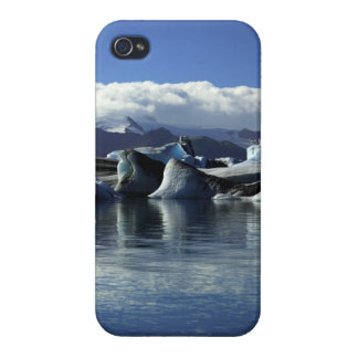 Black & Blue Icebergs, Iceland iPhone 4 Cover