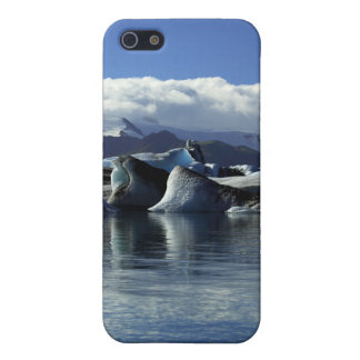 Black & Blue Icebergs, Iceland iPhone 5 Case