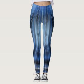 Black & Blue Leggings-Modern Design Leggings