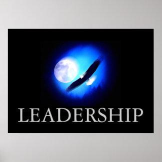 Black & Blue Motivational Leadership Eagle Poster