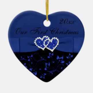 Black, Blue Our First Christmas Keepsake Ornament