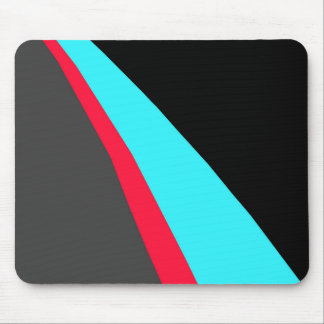 Black Blue Red Gray Pattern Mouse Mat